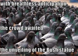 bush-statue