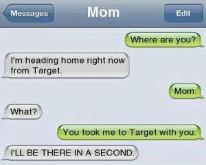 mom left me at target